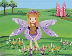 Purple Fairy from my whimsical girls artworks by Peta E. More info about me at my website www.petae.com.au