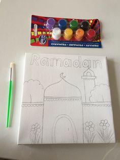 Muslim kids canvas Ramadan for kids Muslim kids Islam for kids  https://www.etsy.com/listing/228947326/ramadan-canvas-for-kids-muslim-kids