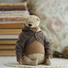 Teddy Bear Hug, Bear Hugs, Teddy Bears, Wonderful Things, Stuffed Animals, Pet Toys, Needle Felting, Beast, Sewing Projects
