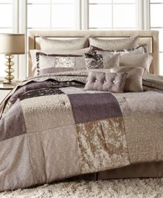 Reese Plum 10Piece California King Comforter Set BEDDING