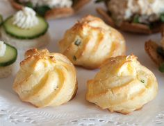 These cheesey Parmesan-Chive Gougères are made with pâte à choux, or choux pastry, the same dough that is used in making éclairs.