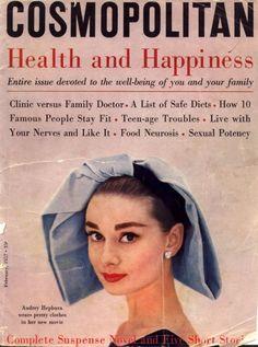 vogue covers with audrey hepburn | Audrey Hepburn en la tapa de la revista Cosmopolitan