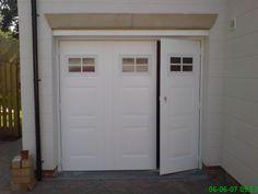 What is a Side Hinged Garage Door? Select Garage Doors a UK manufacturer of garage doors for over 15 years answer this & any other garage door questions. Garage Door Hinges, Garage Doors, Trendy Door, Small Garage Door, Door Opener, House Extension Design, Garage, Garage Door Types, Doors