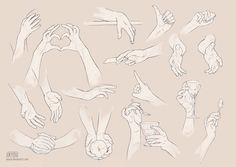 Des modèles de main pour nous aider à pratiquer différentes positions de la main.