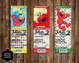 Elmo Birthday Party Ticket Invitation