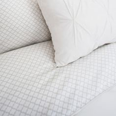 Great site for designer bedding   The Page Gray Duvet Cover