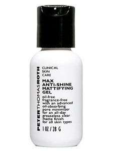 Prevent: Try a gel-based cleanser (creamy is too heavy) with glycolic acid, a heavy-hitting exfoliant that penetrates deeply, washing away oil hiding out in pores. Then dab a mattifying gel all over to absorb shine, says Michael Gold, M.D., a dermatologist in Nashville.    We like: Peter Thomas Roth Max Anti-Shine Mattifying Gel, $34, endlessbeautycare.com.