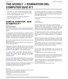 Quiz di verifica (PDF) per controllare le conoscenze acquisite nella decade delle lezioni dalla 61 alla 70.