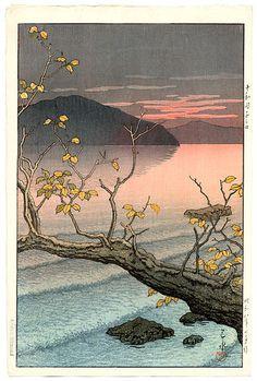 Nenokuchi, Towada, by Kawase Hasui, 1933