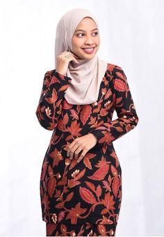 Batik Mini Kurung BHMK01-011 (BLACK) from batik house my in Black Batik Mini Kurung BHMK01-011 (BLACK) from batik house my in Black Top- Slim fit- Back zipper- Comfortable, extremely breathable, absorbent&#44... Black Tops, High Neck Dress, Slim, Mini, Stuff To Buy, Dresses, Modern, Fashion, Turtleneck Dress