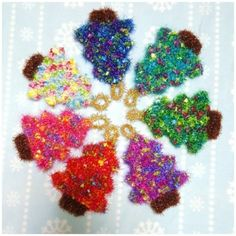 made by ina : 네이버 블로그 Merry Christmas, Christmas Crafts, Christmas Ornaments, Crochet Christmas, Crochet Scrubbies, Stuff To Do, Fun Stuff, Diy And Crafts, Crochet Earrings