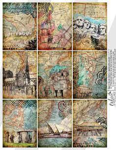 Card Ideas Discover Printable Travelin Through Digital Collage Sheet Traveling Images Vintage Maps World Travels Card Making Art Cards Printable Cards Papel Vintage, Vintage Maps, Vintage Ephemera, Free Collage, Digital Collage, Map Collage, Digital Art, Travel Scrapbook, Scrapbook Paper