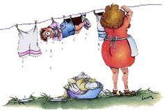 roupa no varal -