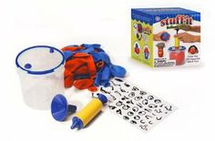Hog Wild Stuff-It Balloon Filler by Hog Wild. $19.99. Create your own squeezable balls and toys!. Make your own juggling balls, foot bags and even stress balls. Hog Wild Stuff-It Balloon Filler  Create your own squeezable balls and toys!  It's a hands-on activity that's both fun and educational! Make your own juggling balls, foot bags and even stress balls. Decorate and show your creativity with included face stickers.  Easy to use: Affix the balloon to inflat...
