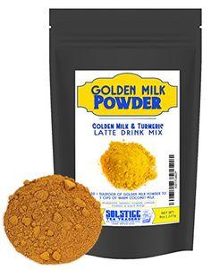 Golden Milk Powder Turmeric Tea Drink Mix, Pre-Mixed Turm...