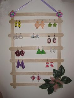 Earring Holder From Ice Cream Stick