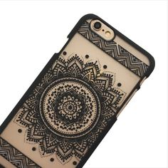 Black Aztec Mandala Phone Case