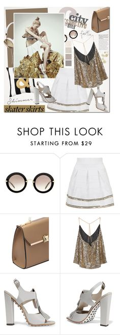 """Skater Girl"" by mada-malureanu ❤ liked on Polyvore featuring Miu Miu, Topshop, Tod's, Sheinside, skaterSkirts, polyvoreeditorial and shein"