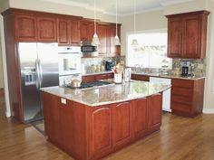 North County Kitchens, Petaluma Cherry Kitchen Custom Cabinets