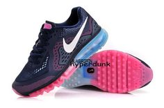 new style 00aaf 31ffd Nike Air Max 2014 Womens Dark Blue Metallic White Pink Shoes Nike Shoes  Cheap,