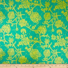 Amy Butler Lark Laminate Souvenir Mineral from @fabricdotcom  Designed by Amy Butler for Westminster/Rowan, this laminated fabric meets the key provisions of the CPSIA (Comprehensive Consumer Product Safety Improvement Act of 2008). Does not contain any lead or thyolate. Soft, protective film is laminated to the face of the fabric, its softness makes this cloth extremely pliable for fashion, and the durability combined with easy-care convenience (cleans up easily with a damp cloth) can be ...