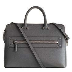 The exterior is made of top grain calfskin, and finished with brushed hardware. Make a strong impression with this luxurious top grain calfskin briefcase. Briefcase For Men, Leather Briefcase, Men's Leather, Leather Backpack, Leather Handbags, Design Inspiration, Footwear, Backpacks, Inspired