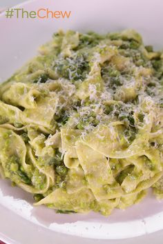 Make this quick and easy Pappardelle with Peas and Parm pasta for your family tonight.