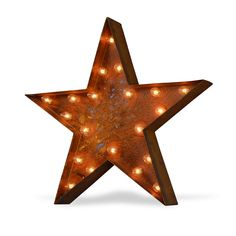 Star Icon Symbol Marquee Light from The Rusty Marquee