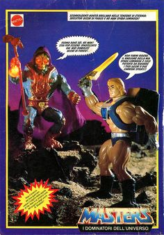 "Skeletor Occhi di Fuoco (Laser-Light Skeletor) - da ""Topolino"" n. 1712 (18 settembre 1988) #Miniatures #Figures #Motu #Mattel #Skeletor #MastersOfTheUniverse #Topolino"