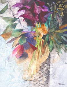 Deep Purple Lilies | Shirley Trevena #illustration