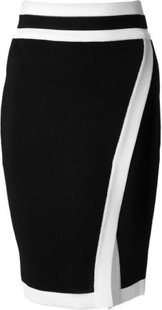 Balmain Pencil Skirt in Black | Lyst