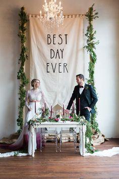 Best Day Ever wedding inspo with Generation Tux - photo by Marc + Anna #weddingdecoration