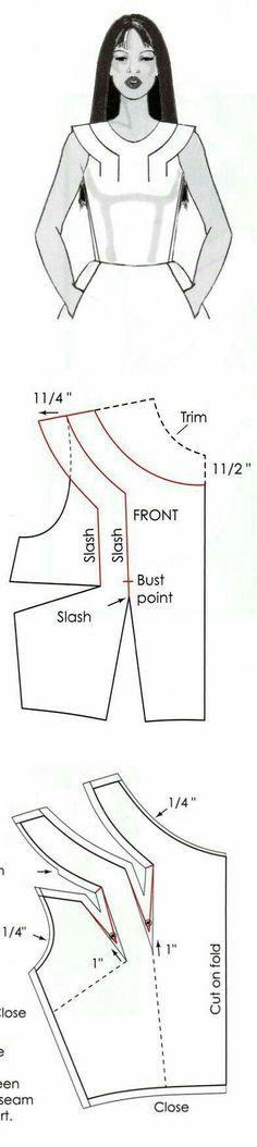 Neckline pattern.