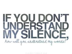I'm rarely silent...but when I am...there's a reason...