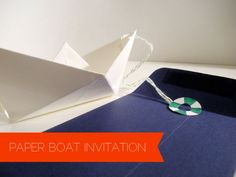 How to: Paper Boat Invitation Tutorial