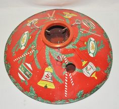 OOOh , love this more!  Lithographed, Formed Metal Christmas Tree Stand, Vintage | eBay