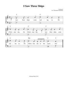 I Saw Three Ships Come Sailing In Sheet Music and Christmas Song for Kids! Christmas Songs For Kids, Christmas Music, Violin Lessons, Music Lessons, Music Education, Learning Music, Music Class, All Songs, Kids Songs