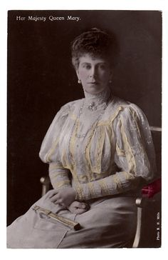 Queen Mary colorized card by E. H. Mills