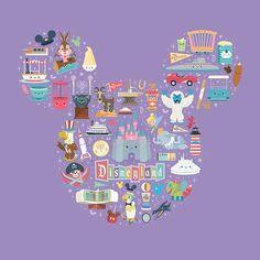 New Disneyland painting by @jmaruyama being released at the D23 Expo #disney #disneyland #disneyart #d23 #d23expo #splashmountain #junglecruise #dolewhip #hauntedmansion #matterhorn