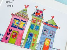 Home Sweet Home #stitched #artwork