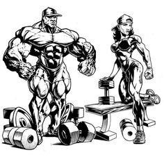 The 2 new designs for @teamfreakphysique. They will be sold separately. This pic is to simply show both of them together. ✏✒ #Bodybuilding #Powerlifting #JerryBeckArt #illustratusMaximus  #IllMaxComics #ImageComics  #DCcomics  #MarvelComics  #DynamiteComics #BoomComics #AftershockComics #DarkHorseComics #ValiantEntertainment #CarveYourOwnPath