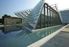 adige river front, bamboo flooring, brownfield revitalization, geothermal energy, industrial site redevelopment, italy, muse, museum of natural sciences, photovoltaic panels, rainwater harvesting, renzo piano building workshop, sustainable museum exhibit, trento, tri-generation energy plant
