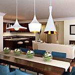 Tom Dixon Pendant Light Modern Pendant Lamp For Dining Room Living Room Aluminum White ABC Models Ceiling Lamps Fixtures Cheap Pendant Lights, 3 Light Pendant, Pendant Lamp, Pendant Lighting Bedroom, Wood Chandelier, Industrial, Suspension Tom Dixon, Spinning, Drop Lights