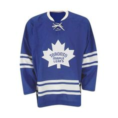Toronto Maple Leafs Vintage Replica 1967 Dark NHL Hockey Jersey (£34) ❤ liked on Polyvore featuring jerseys, tops, vintage nhl jerseys, vintage jerseys, blue jersey, stitched jerseys and nhl jerseys