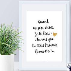 A4 - Affiche papier - Déclaration - Amour,affiche citation,citation, saint valentin, déclaration, amoureux,noir et blanc,cadeau- C