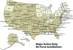 map of air force bases in united states