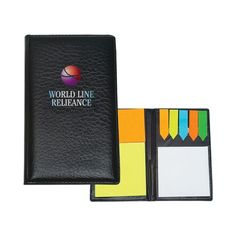 The Custom BrandedTravel Notes & Flags has sticky notes in various colors and shapes. The Sticky Flags come in 5 different neon colors. Available in full color.
