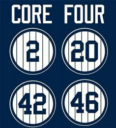 new york yankee core four pictures Yankees Baby, New York Yankees Baseball, Baseball Boys, Baseball Stuff, Sports Advertising, America's Pastime, Mlb Teams, Derek Jeter, Core