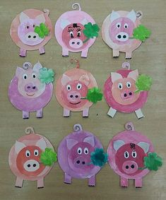 15 Baby Animal Days / Farm Crafts for Kids Pig Crafts, Farm Crafts, Animal Crafts, Diy And Crafts, Crafts For Kids, Kindergarten Art Projects, Pig Art, Art Activities, Elementary Art