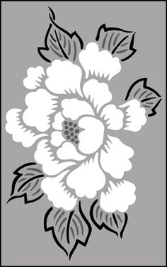Japanese Peony stencils, stensils and stencles